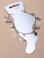 Silver tone CND anklet (Code 1812)